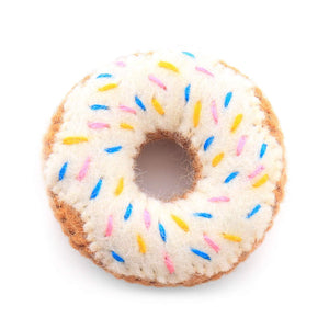 Vanilla Donut Cat Toy from The Foggy Dog