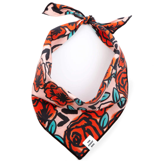 Vintage Roses Dog Bandana from The Foggy Dog