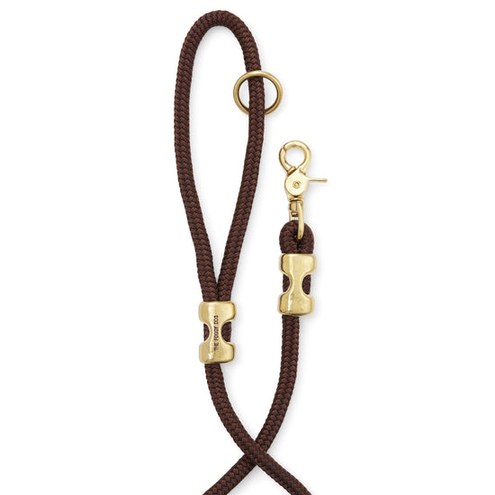 Walnut Marine Rope Dog Leash from The Foggy Dog