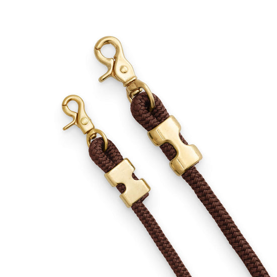 Walnut Marine Rope Dog Leash (Standard/Petite) from The Foggy Dog