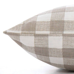 Warm Stone Gingham Check Dog Bed from The Foggy Dog