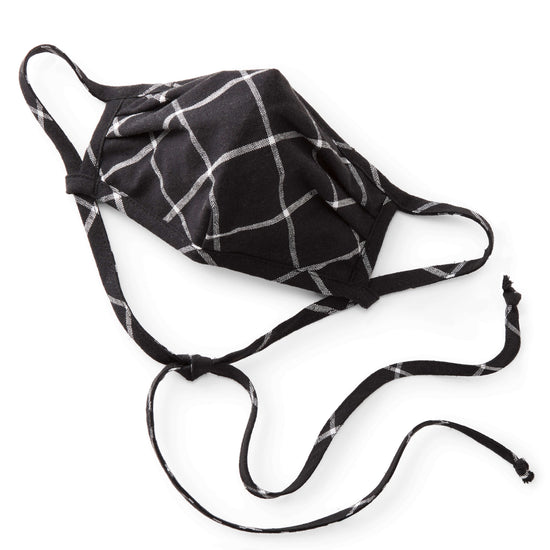 Windowpane Black Reusable Face Mask from The Foggy Dog