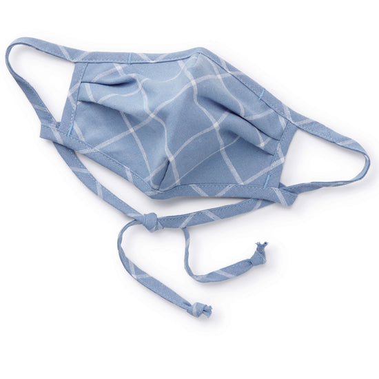 Windowpane Dusty Blue Reusable Face Mask from The Foggy Dog