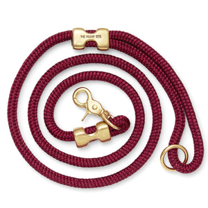 Wine Marine Rope Dog Leash from The Foggy Dog