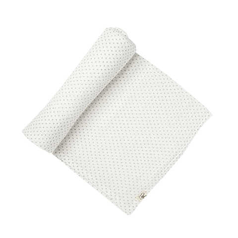 GRAY & WHITE PIN DOT SWADDLE - Lake Millie