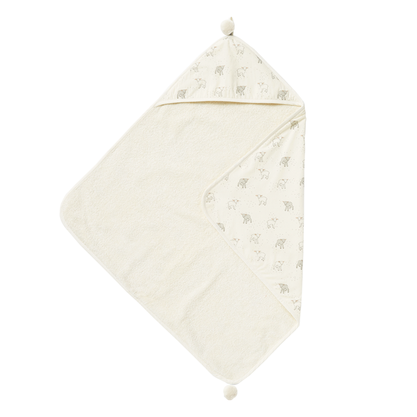 LITTLE LAMB HOODED TOWEL - Lake Millie