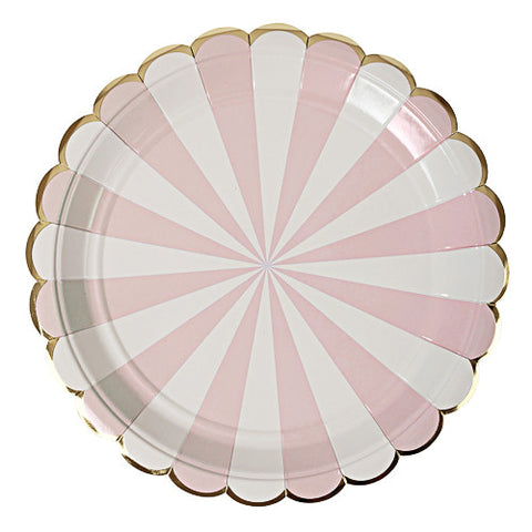 LIGHT PINK STARBURST PLATES, LARGE - Lake Millie