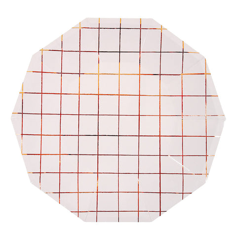 ROSE GOLD GRID PLATES, LARGE - Lake Millie