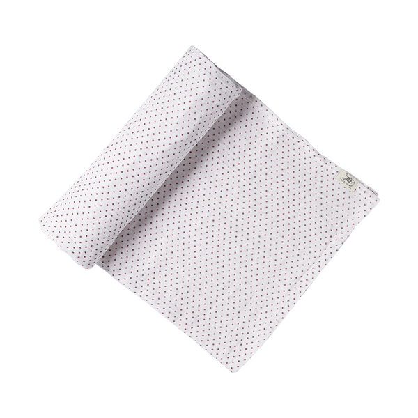 FUCHSIA & WHITE PIN DOT SWADDLE - Lake Millie