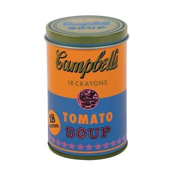 ANDY WARHOL SOUP CAN CRAYON TIN (ORANGE) - Lake Millie