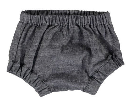 BABY BLOOMERS, DARK BLUE CHAMBRAY - Lake Millie