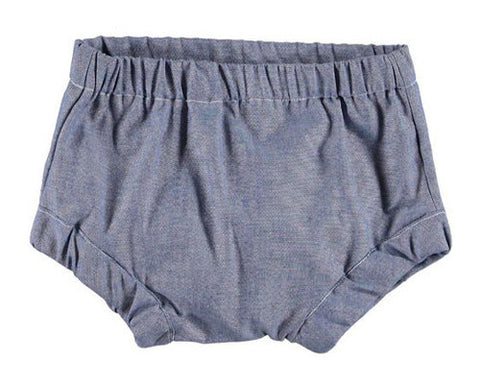 BABY BLOOMERS, LIGHT BLUE CHAMBRAY - Lake Millie