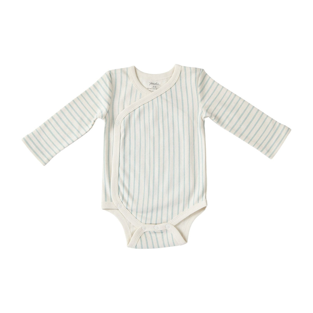 STRIPES AWAY ORGANIC KIMONO ONE-PIECE, SEA