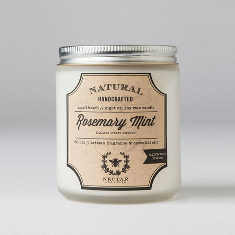 AROMATHERAPY CANDLE - ROSEMARY MINT