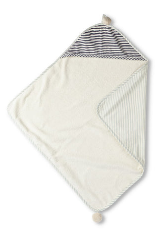 STRIPES AWAY HOODED TOWEL, SEA