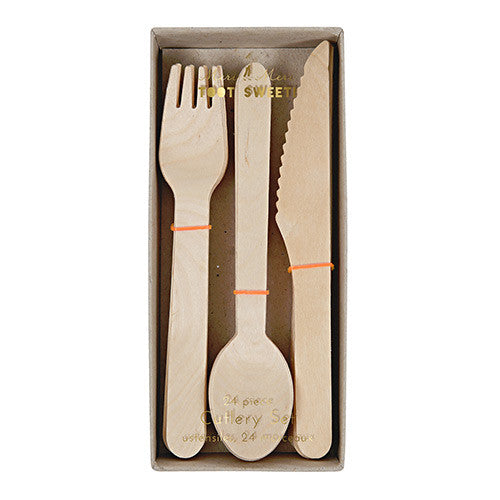 WOODEN CUTLERY, NATURAL - Lake Millie