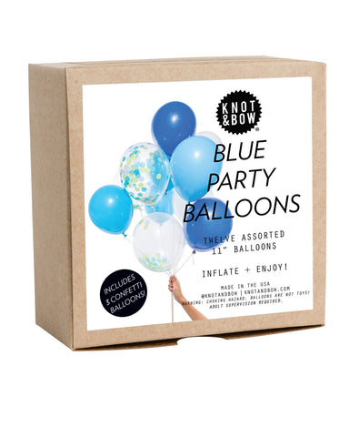 BLUE PARTY BALLOONS - Lake Millie
