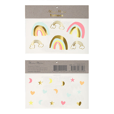 RAINBOW & STAR TEMPORARY TATTOOS - Lake Millie