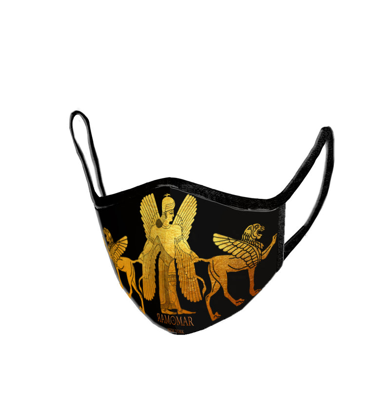 Goddess Ishtar winged Lion Embroidered  Face Mask