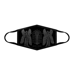 Black Assyrian Tree of Life Embroidered  Face Mask