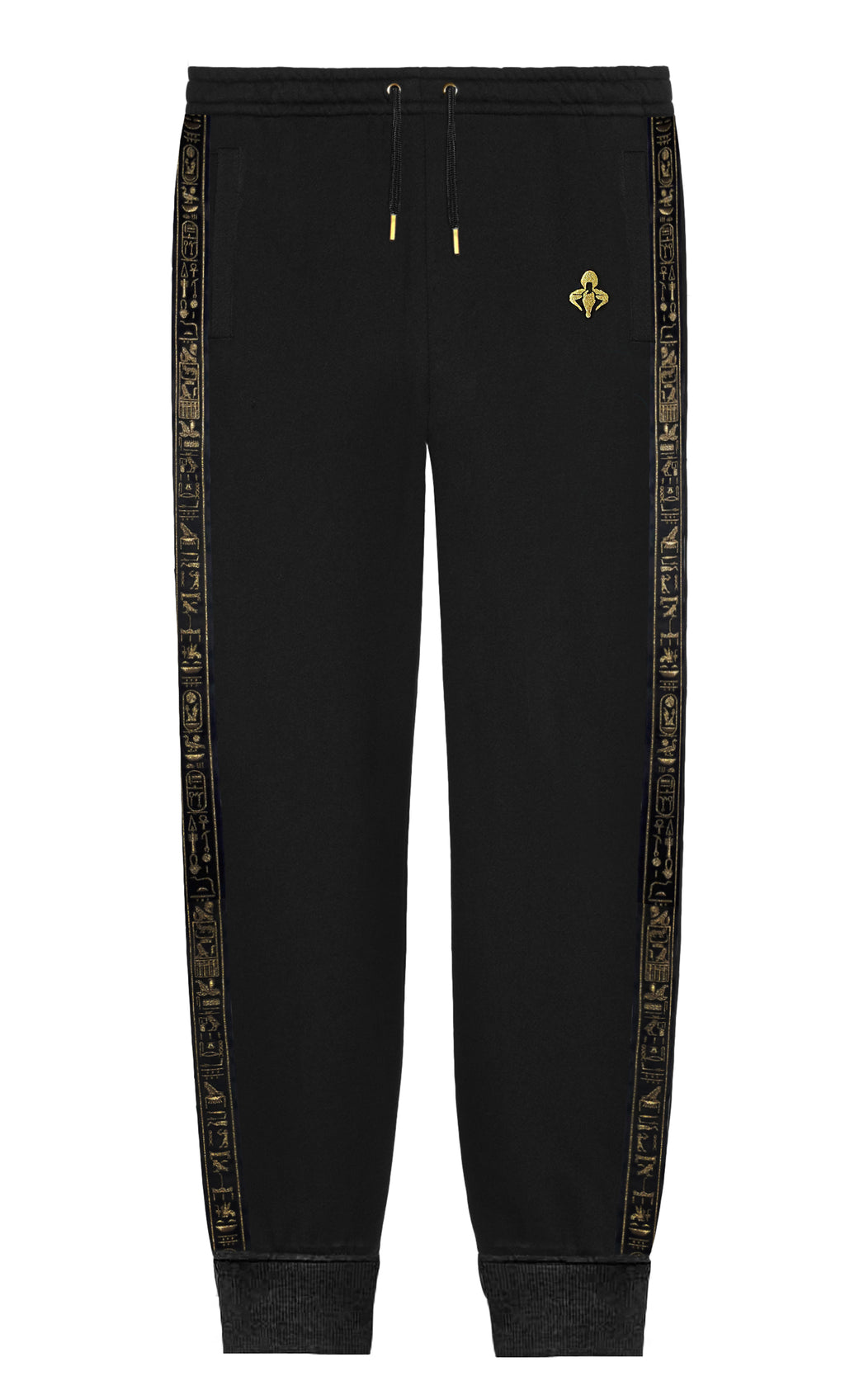 Black & Gold  Cerimonial Trim Sweatpants