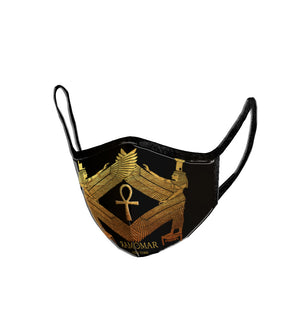 Protected by Goddess Aset  Embroidered  Face Mask