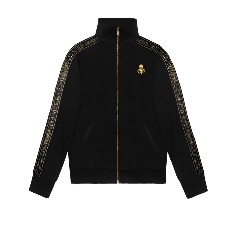Black & Gold NebMaatRa Ceremonial Trim Tracksuit Jacket