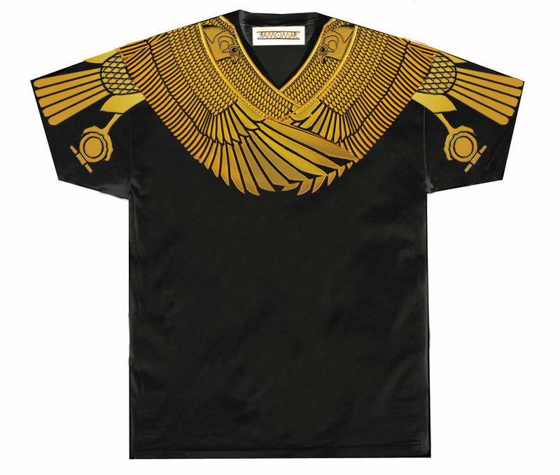 Protected by Golden Horus Vneck Black