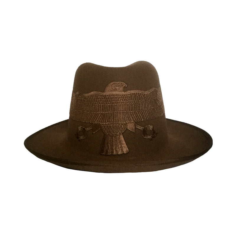 Brown Falcon Fedora Crown