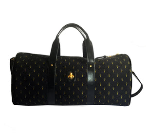 Copy of Black & Gold Ankh Monogram Canvas & Calfskin Leather Duffel Bag