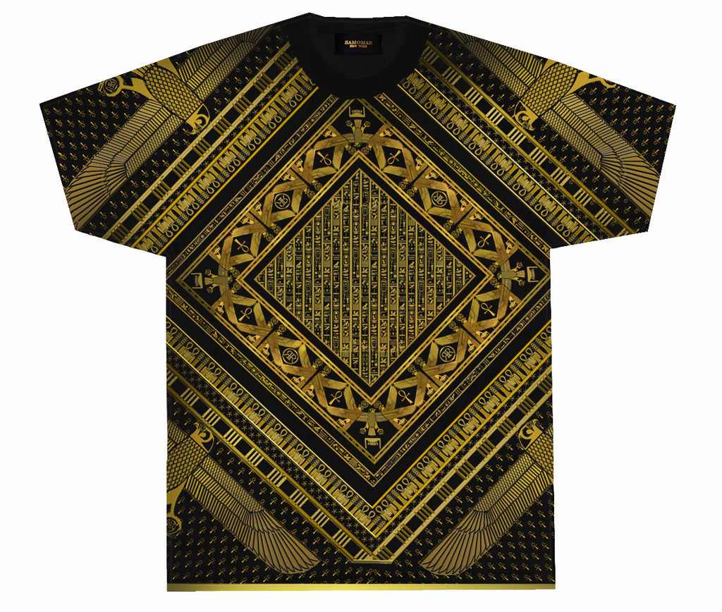 Falcon Trim T-Shirt  Black & Gold