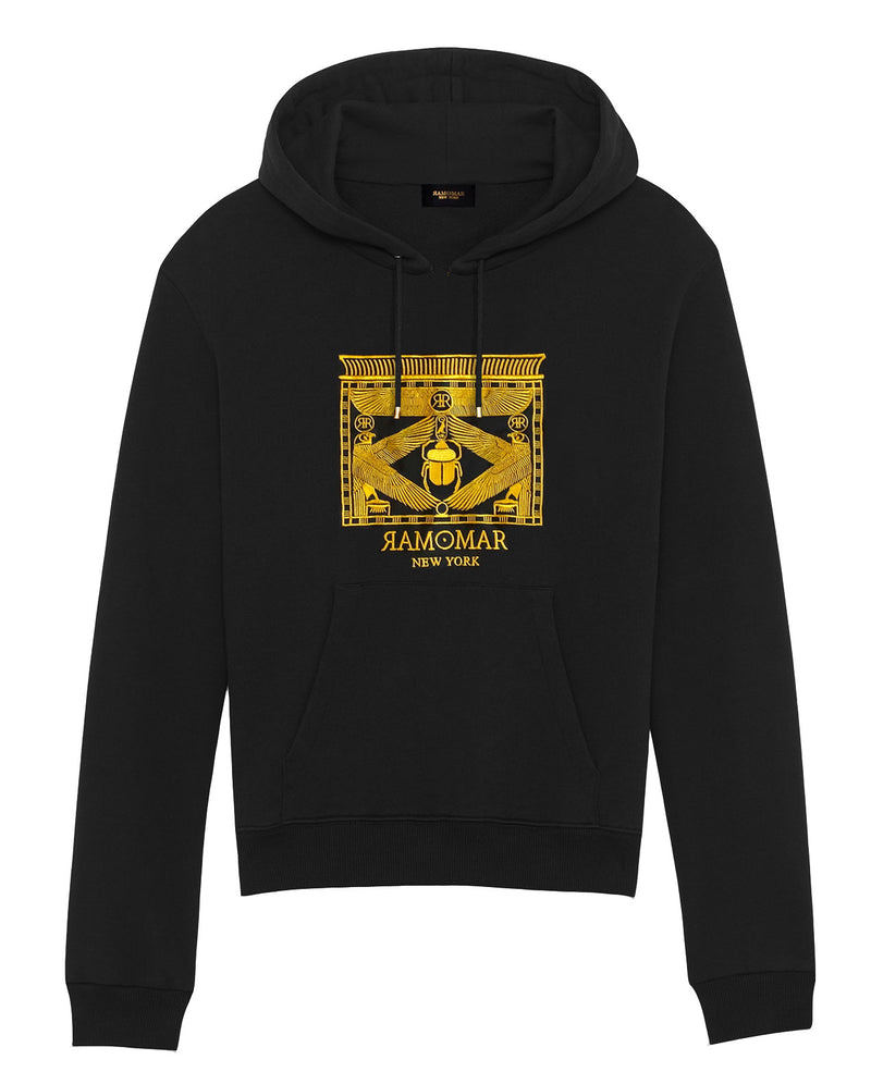 Gold Falcon Pectoral Shrine Hoodie