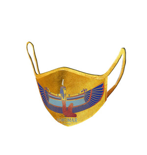 Gold Goddess Maat Embroidered  Face Mask