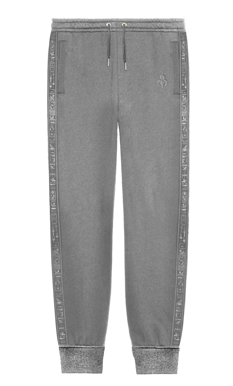 Gray Cerimonial Trim Sweatpants