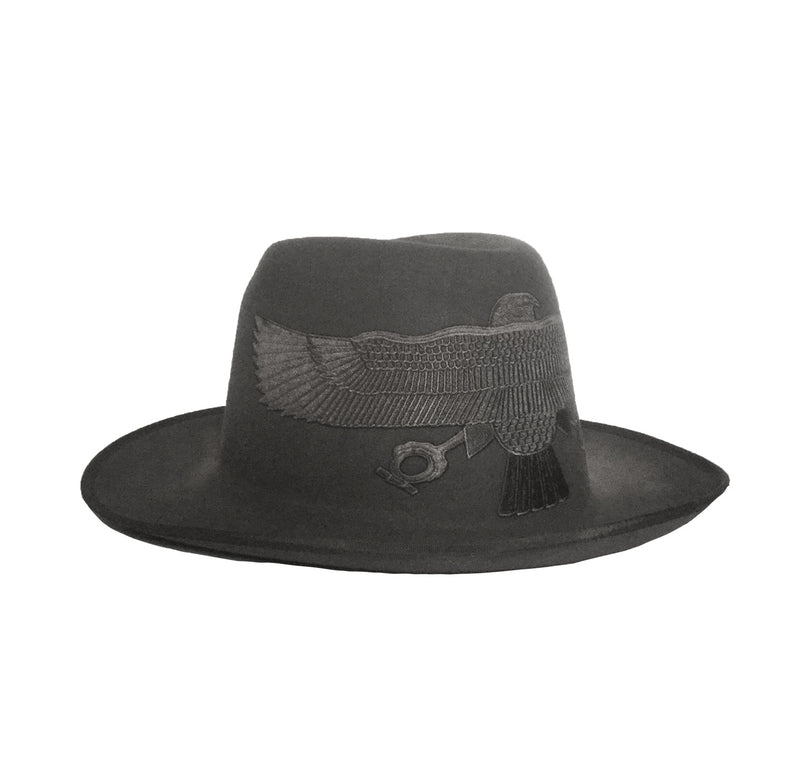 Gray Falcon Fedora Crown