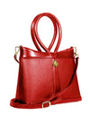 Red Pebble Grain Calfskin Leather Medium AnkhBag