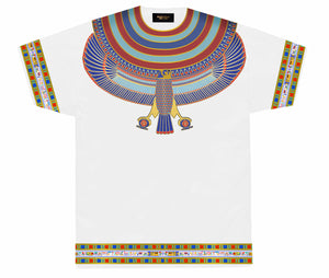 White Horus Collar T-Shirt