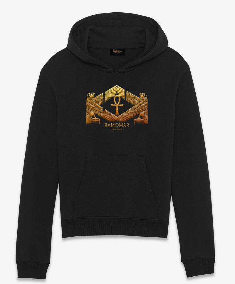 Protected by Golden Heru Embriodered  Hoodie