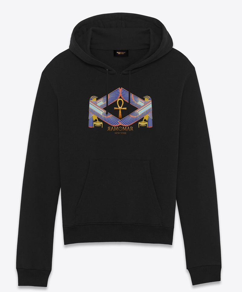Protected by Heru Embriodered  Hoodie