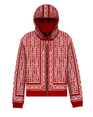 Red & White NebMaatRa Ceremonial Trim  Hoodie