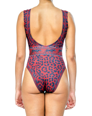 Bastet Red Leopard Swimsuit