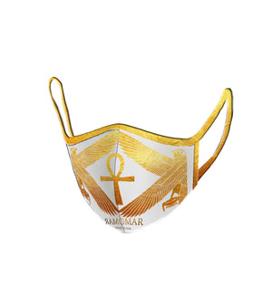 Protected by Golden Heru Embroidered  Face Mask