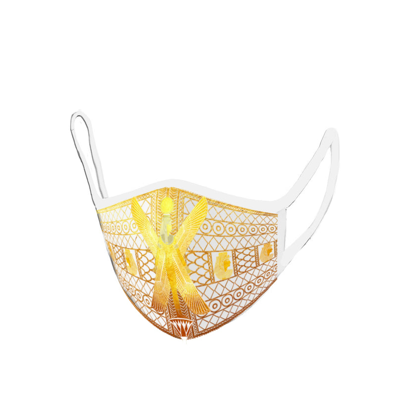 Winged goddess Mut Protective Embriodered Face Mask