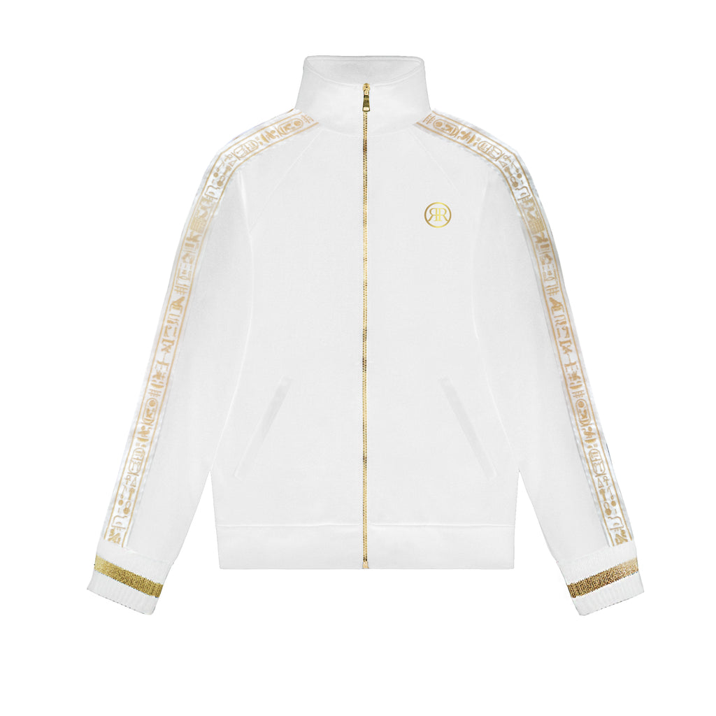 White & Gold NebMaatRa Ceremonial Trim Tracksuit