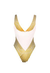 White & Gold Winged Goddess  Swimsuit