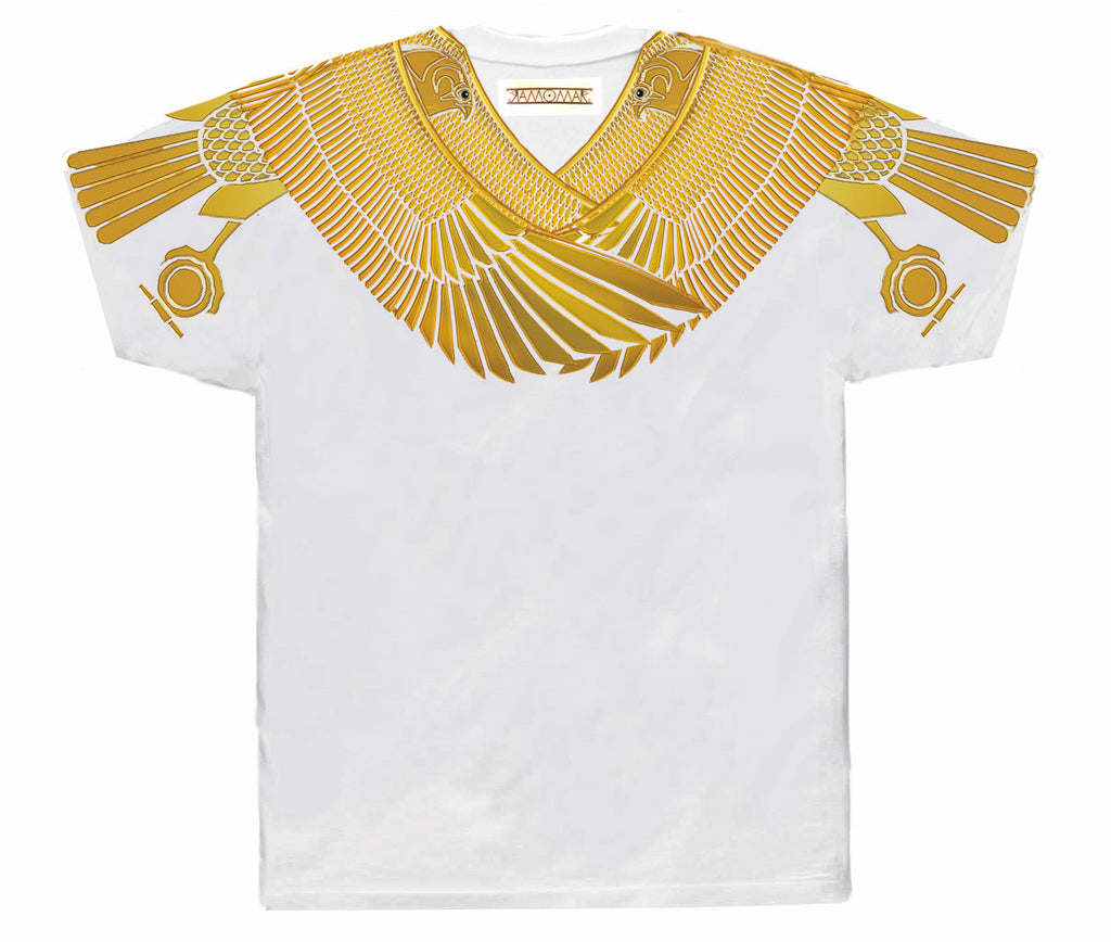 Protected by Golden Horus Vneck White