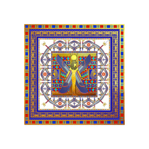 Winged goddess Mut Protective Silk Scarf