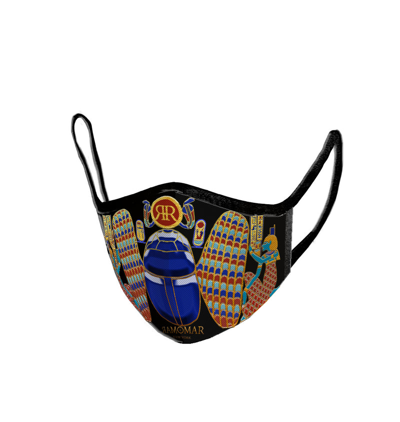 Protective Winged Scarab Embroidered  Face Mask