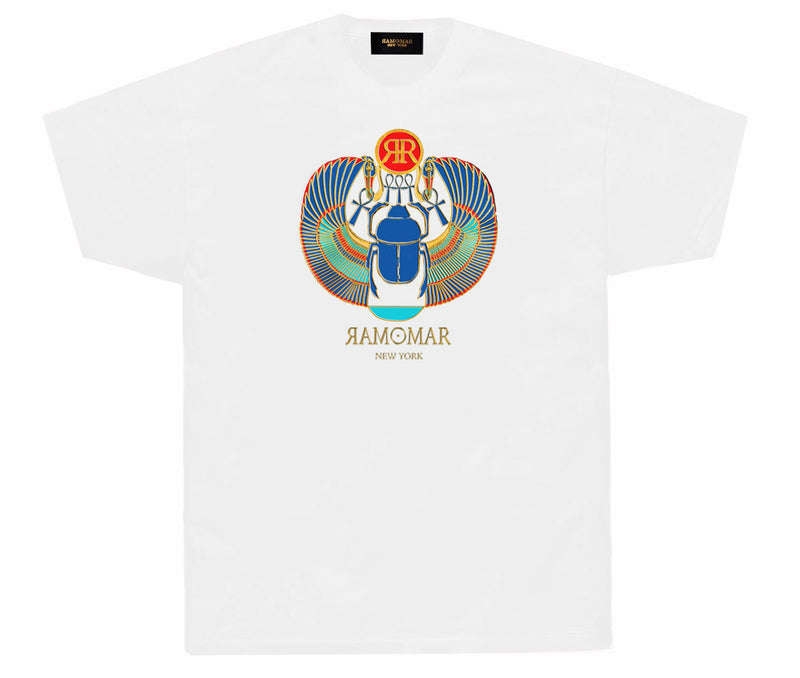 Winged Scarab monogram t-shirt