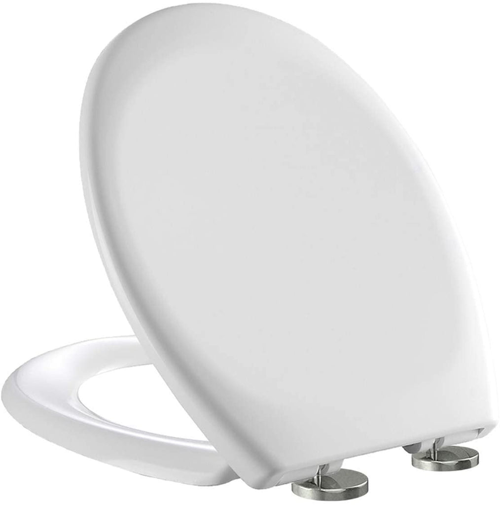 OVAL TOILET SEAT • White • Soft Close • Bottom Fixing Hinges